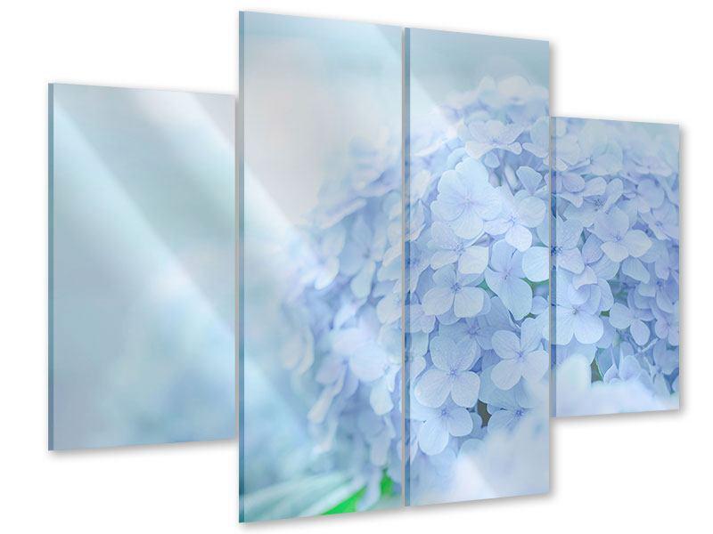 Acrylglasbild 4-teilig Die Hortensie