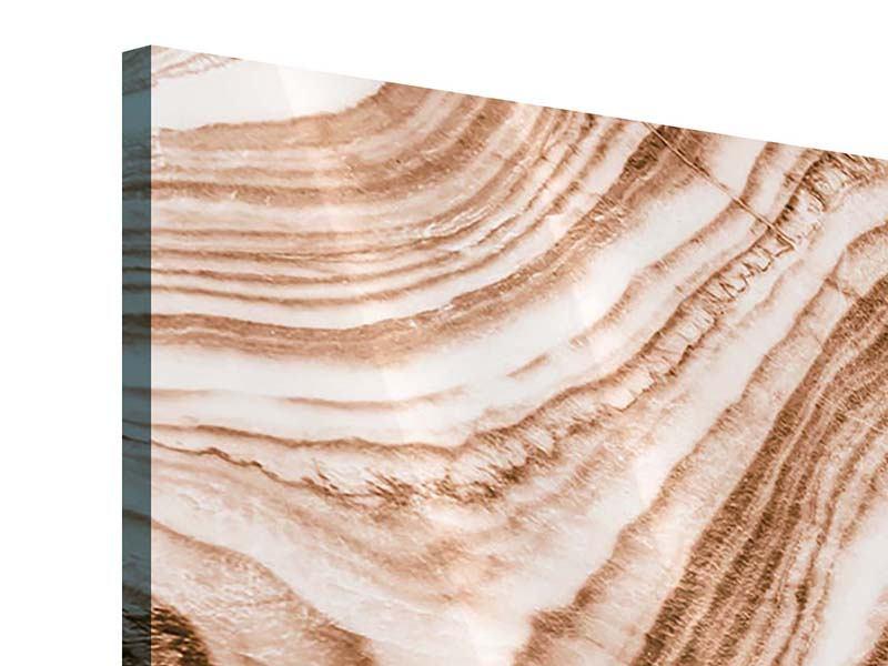 Acrylglasbild 4-teilig Marmor in Sepia