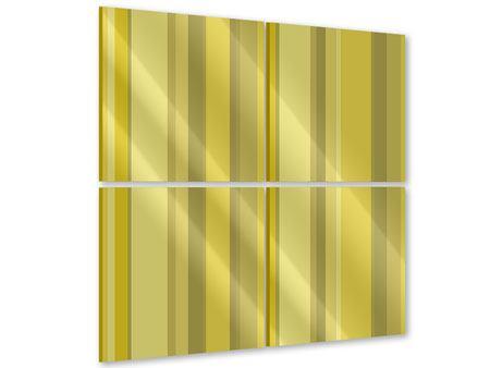 Acrylglasbild 4-teilig Streifen