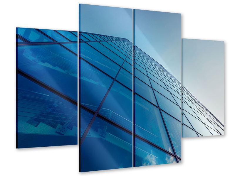 Acrylglasbild 4-teilig Wolkenkratzer-Highlight
