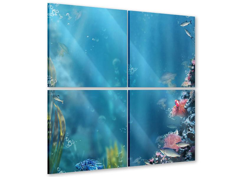 Acrylglasbild 4-teilig Unter Wasser