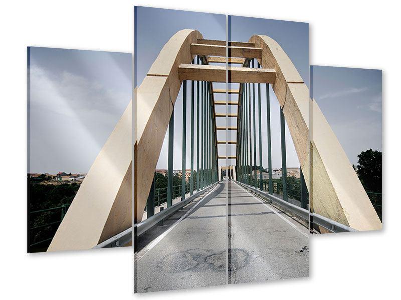 Acrylglasbild 4-teilig Imposante Hängebrücke