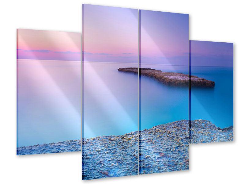 Acrylglasbild 4-teilig Unendlicher Ozean