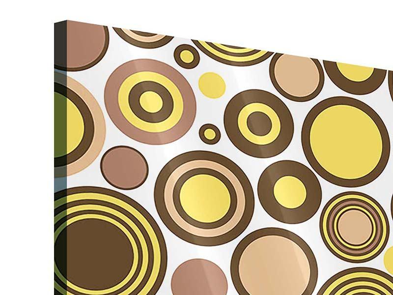 Acrylglasbild 4-teilig Kreise im Retrodesign