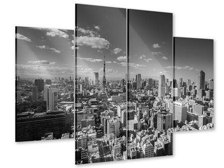 Acrylglasbild 4-teilig Tokio
