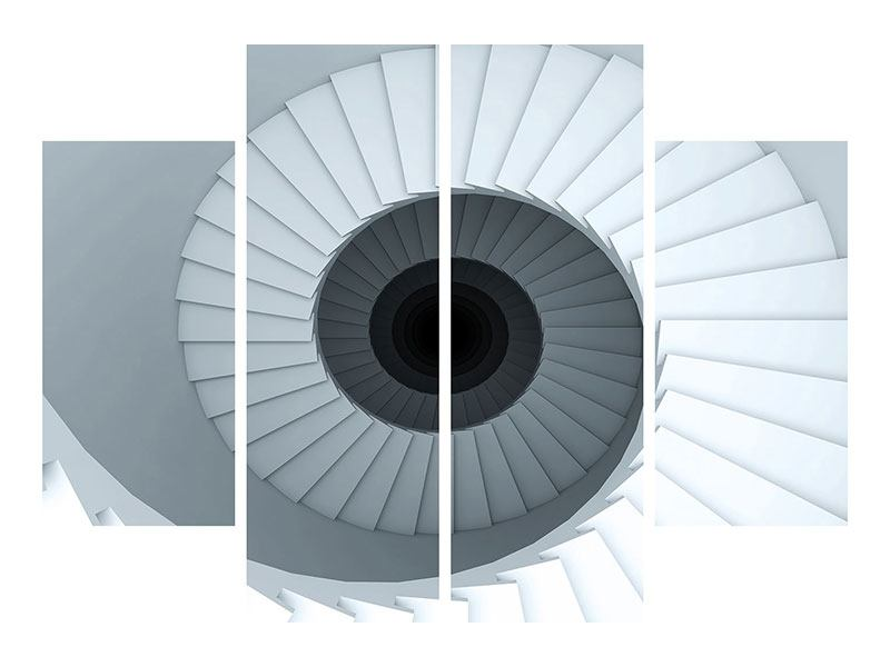 Acrylglasbild 4-teilig 3D Wendeltreppe