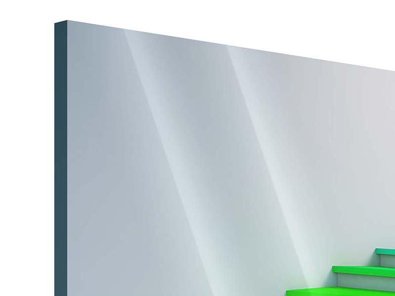 Acrylglasbild 4-teilig Bunte Treppe