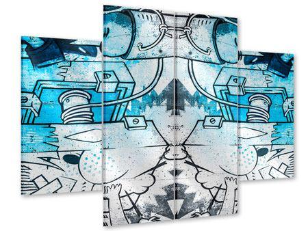 Acrylglasbild 4-teilig Graffiti