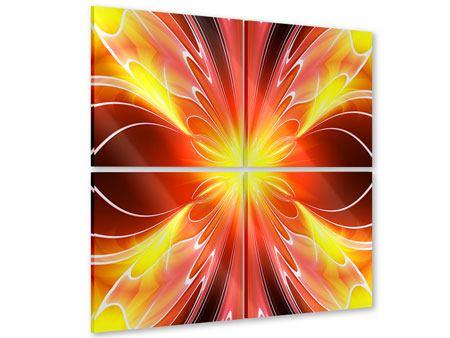 Acrylglasbild 4-teilig Abstraktes Farbenspektakel