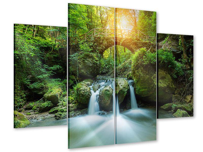 Acrylglasbild 4-teilig Wasserspiegelungen