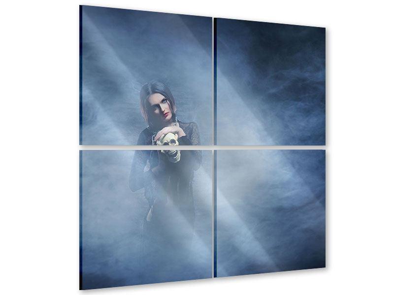 Acrylglasbild 4-teilig Das Geheimnis des Skulls