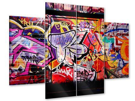 Acrylglasbild 4-teilig Graffiti Kunst