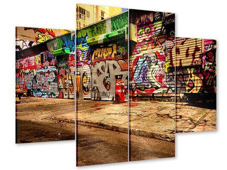 Acrylglasbild 4-teilig NY Graffiti