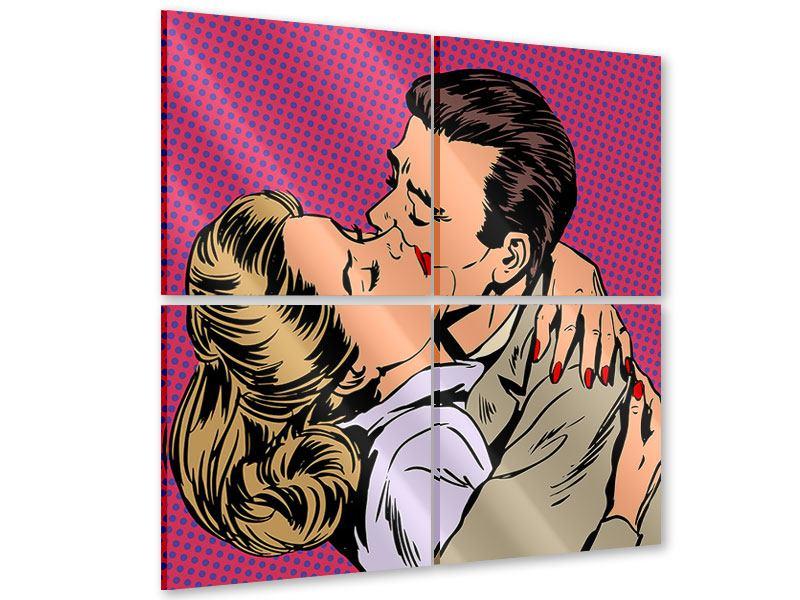 Acrylglasbild 4-teilig Pop Art Sehnsucht