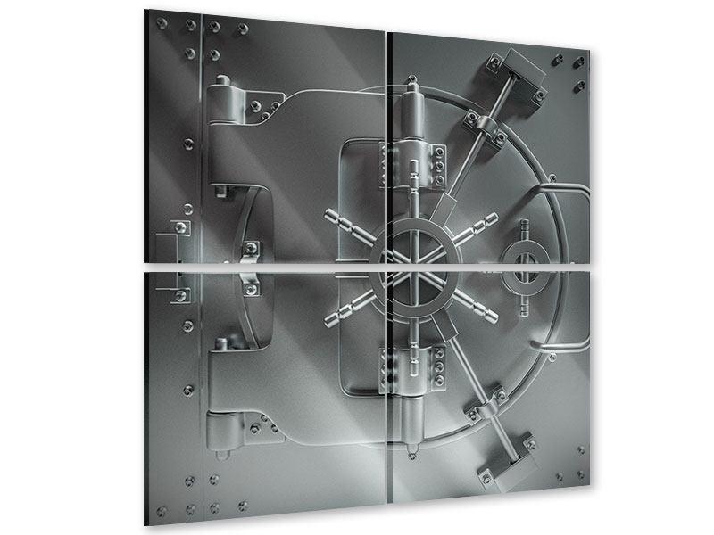 Acrylglasbild 4-teilig Tresor