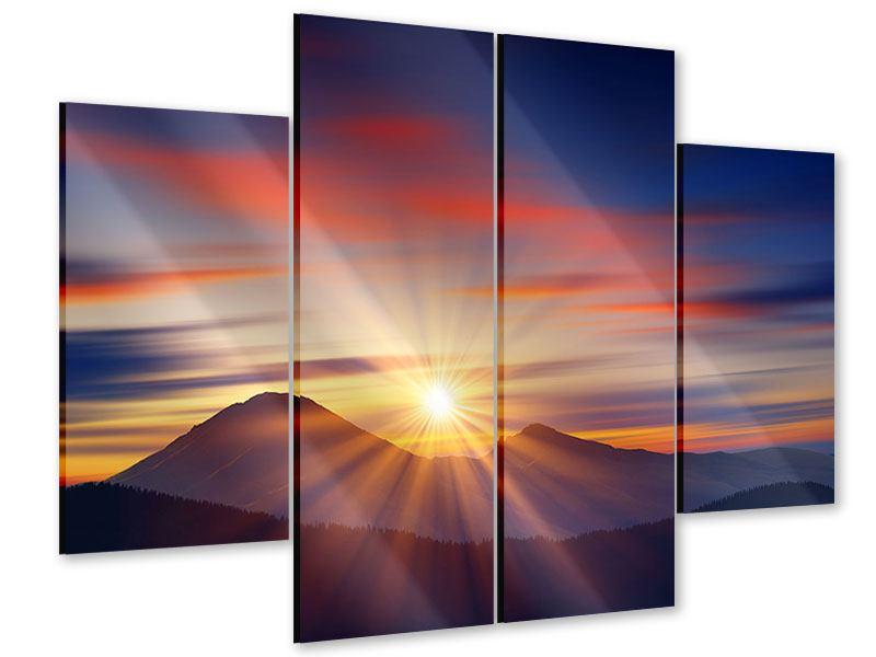Acrylglasbild 4-teilig Märchenhafte Landschaft