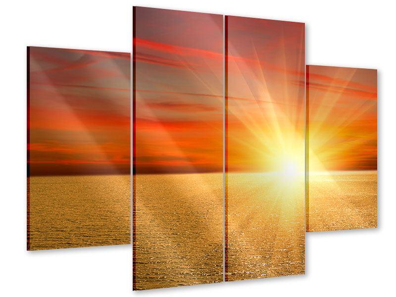 Acrylglasbild 4-teilig Der Sonnenuntergang