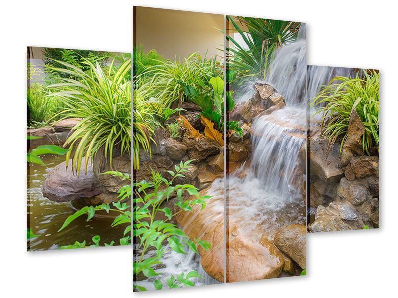 Acrylglasbild 4-teilig Paradiesgarten