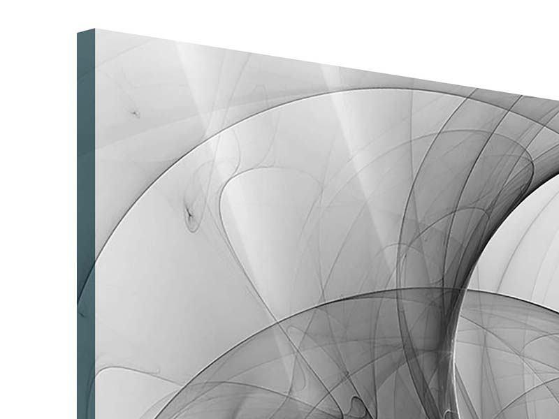 Acrylglasbild 4-teilig Abstrakte Kreisende Kreise