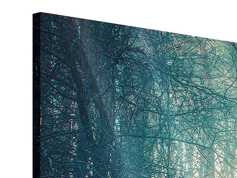 Acrylglasbild 4-teilig Pinienwald