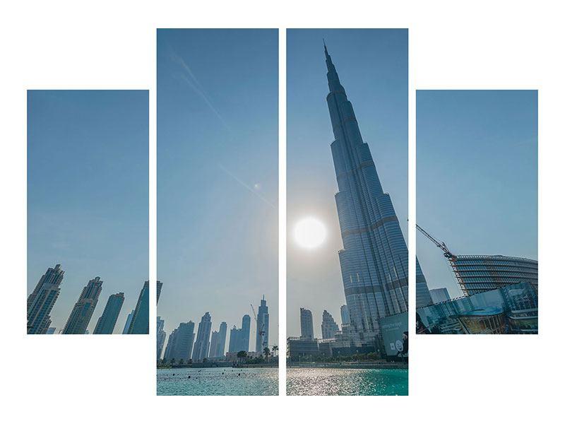 Acrylglasbild 4-teilig Wolkenkratzer-Architektur Dubai
