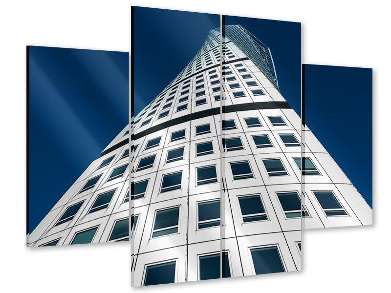 Acrylglasbild 4-teilig Meisterstück Wolkenkratzer