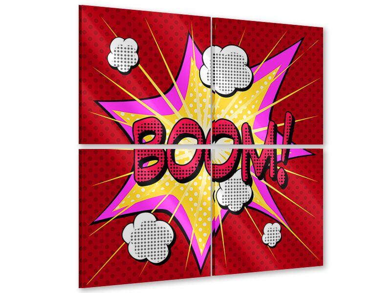 Acrylglasbild 4-teilig Pop Art Boom