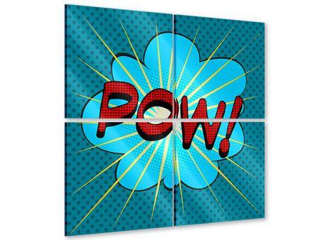 Acrylglasbild 4-teilig Pop Art Pow