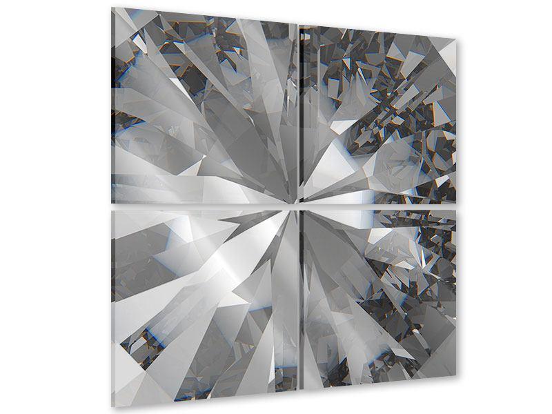 Acrylglasbild 4-teilig Riesendiamant