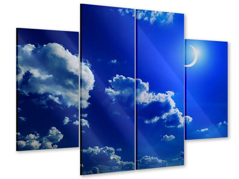 Acrylglasbild 4-teilig Der Mond
