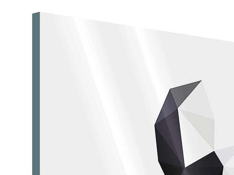Acrylglasbild 4-teilig Origami Bulldogge