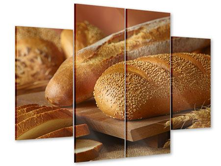 Acrylglasbild 4-teilig Brotzeit