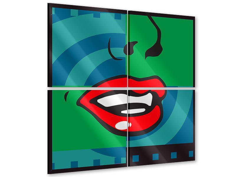 Acrylglasbild 4-teilig The Mouth