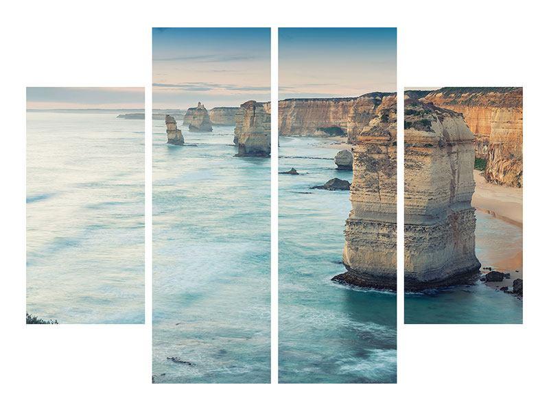 Acrylglasbild 4-teilig Felsklippen