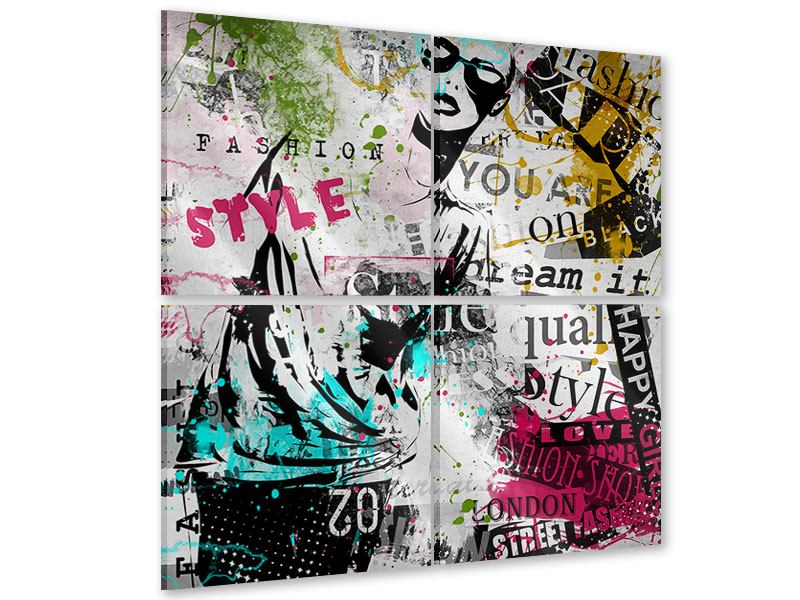 Acrylglasbild 4-teilig Fashion