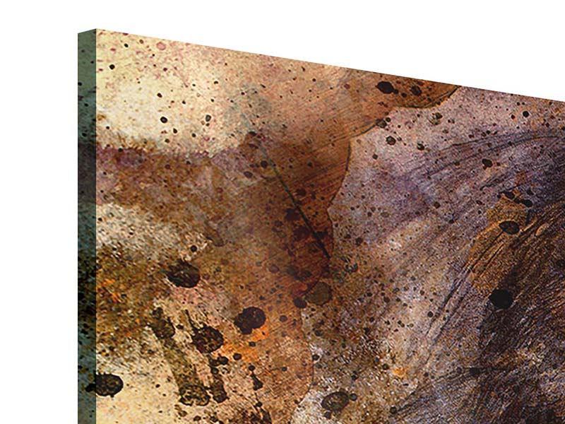 Acrylglasbild 4-teilig Portrait eines Löwen