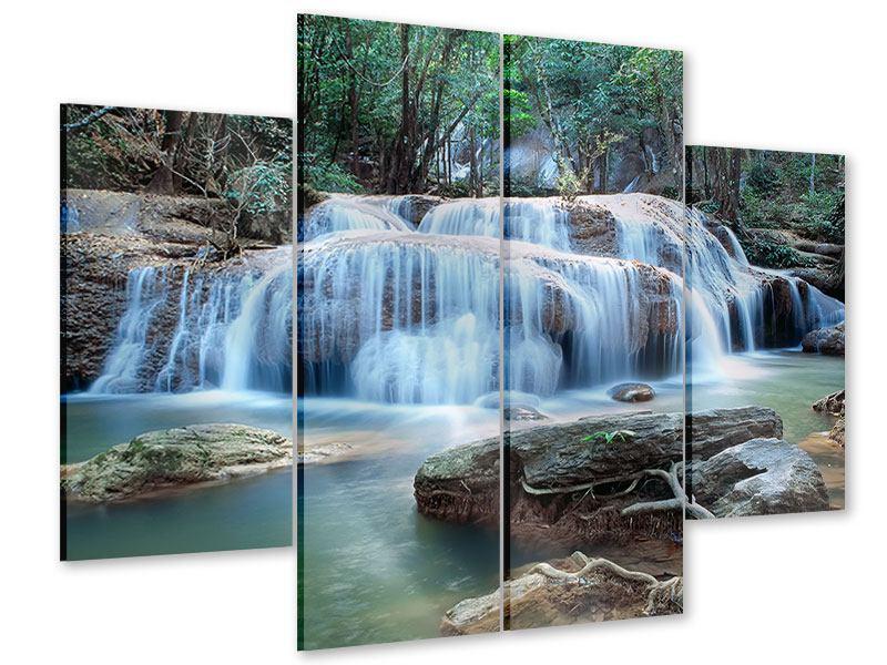 Acrylglasbild 4-teilig Ein Wasserfall