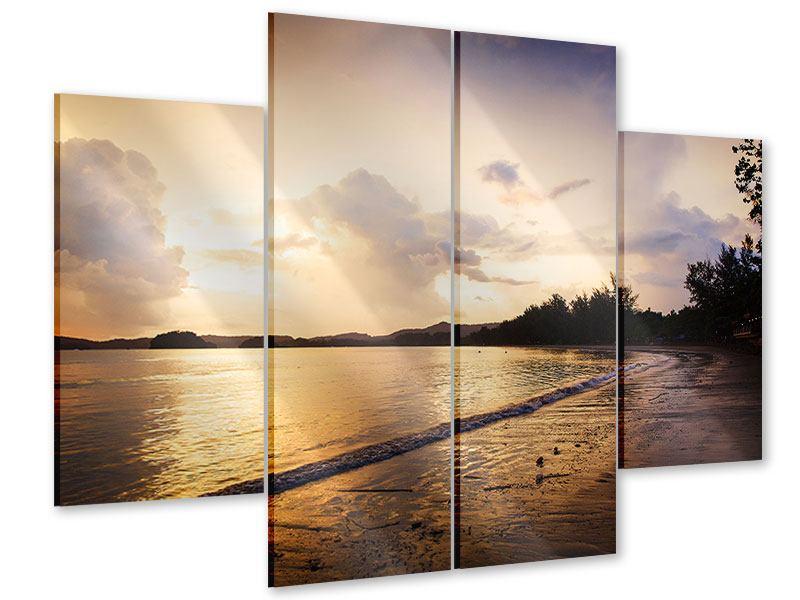 Acrylglasbild 4-teilig Das Ufer