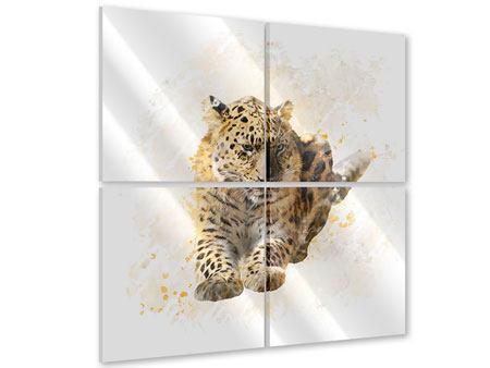 Acrylglasbild 4-teilig Luxgemälde