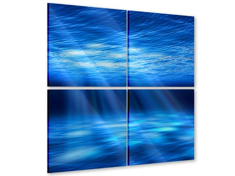 Acrylglasbild 4-teilig Licht unter Wasser