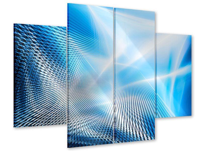 Acrylglasbild 4-teilig Laser