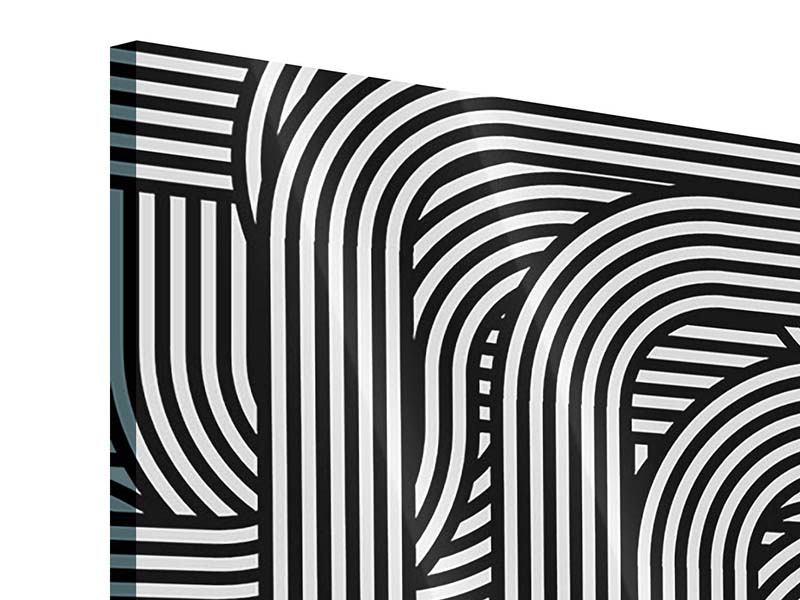 Acrylglasbild 4-teilig 3D Black & White