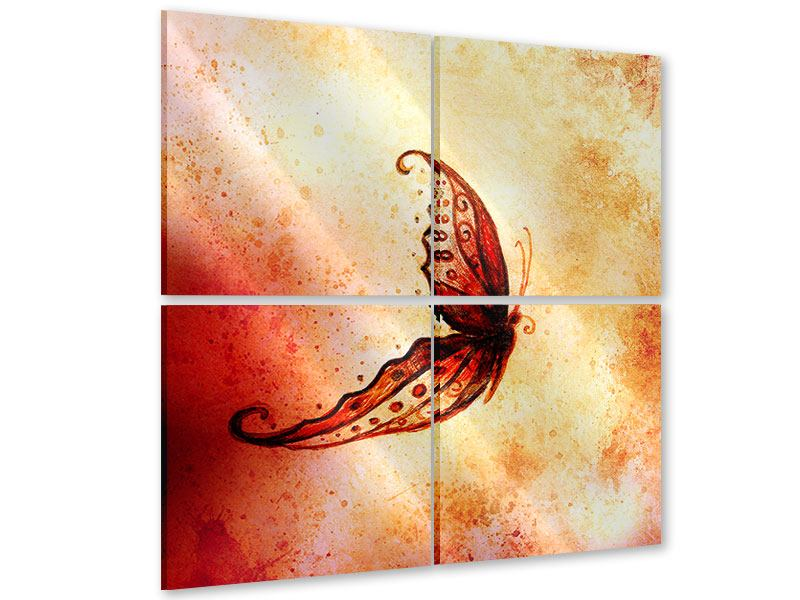 Acrylglasbild 4-teilig Butterfly Gemälde
