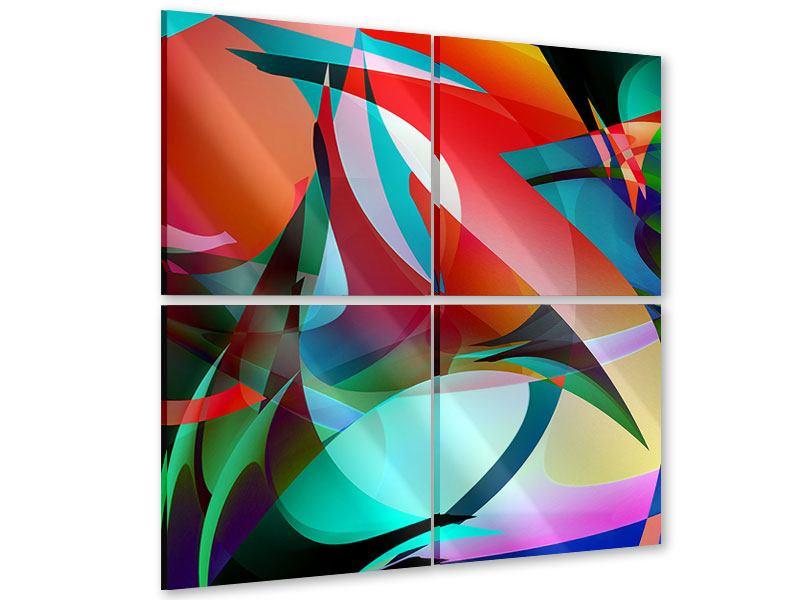 Acrylglasbild 4-teilig Paint