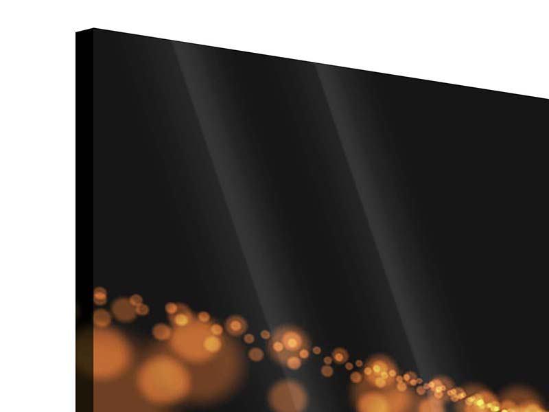 Acrylglasbild 4-teilig Perlengold