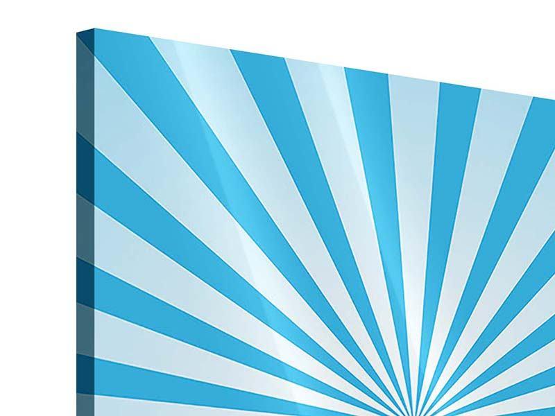 Acrylglasbild 4-teilig Retrowelle Streifenperspektive