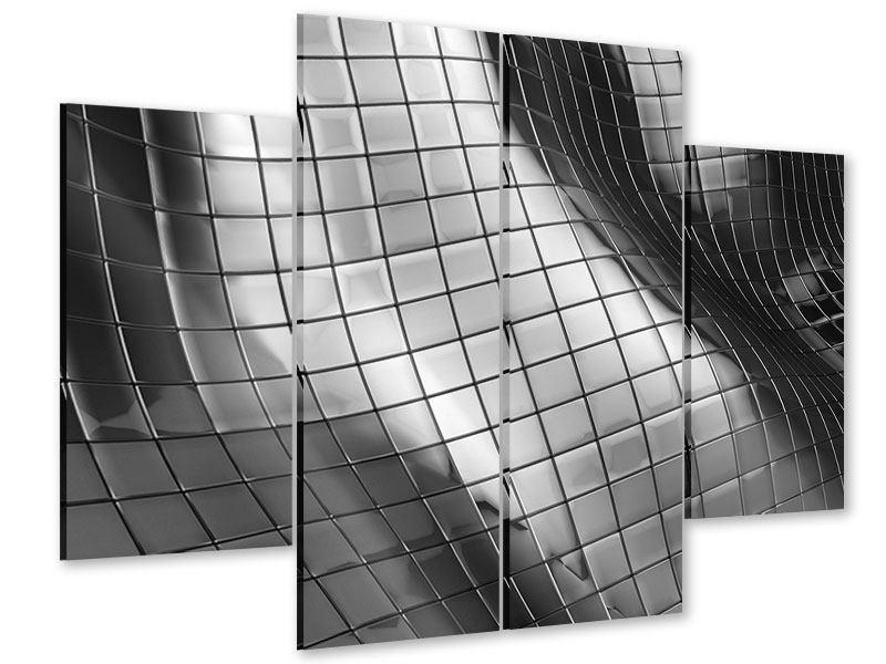 Acrylglasbild 4-teilig Abstrakter Stahl