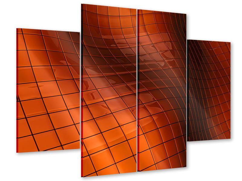 Acrylglasbild 4-teilig 3D-Kacheln