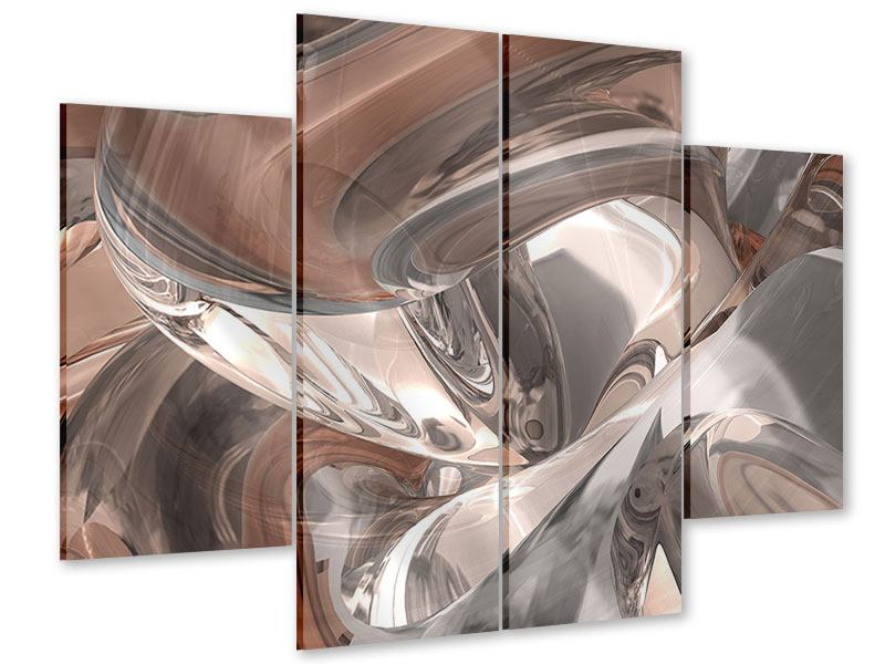 Acrylglasbild 4-teilig Abstraktes Glasfliessen