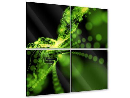 Acrylglasbild 4-teilig Grünes Lichterspiel